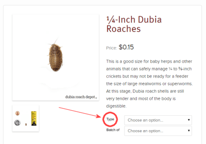 Choosing organic roaches: A how-to diagram