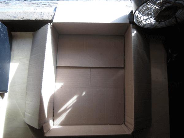 Empty feeding box